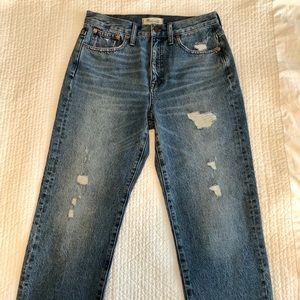 Madewell Jeans - Madewell Destroyed Classic Straight Jeans